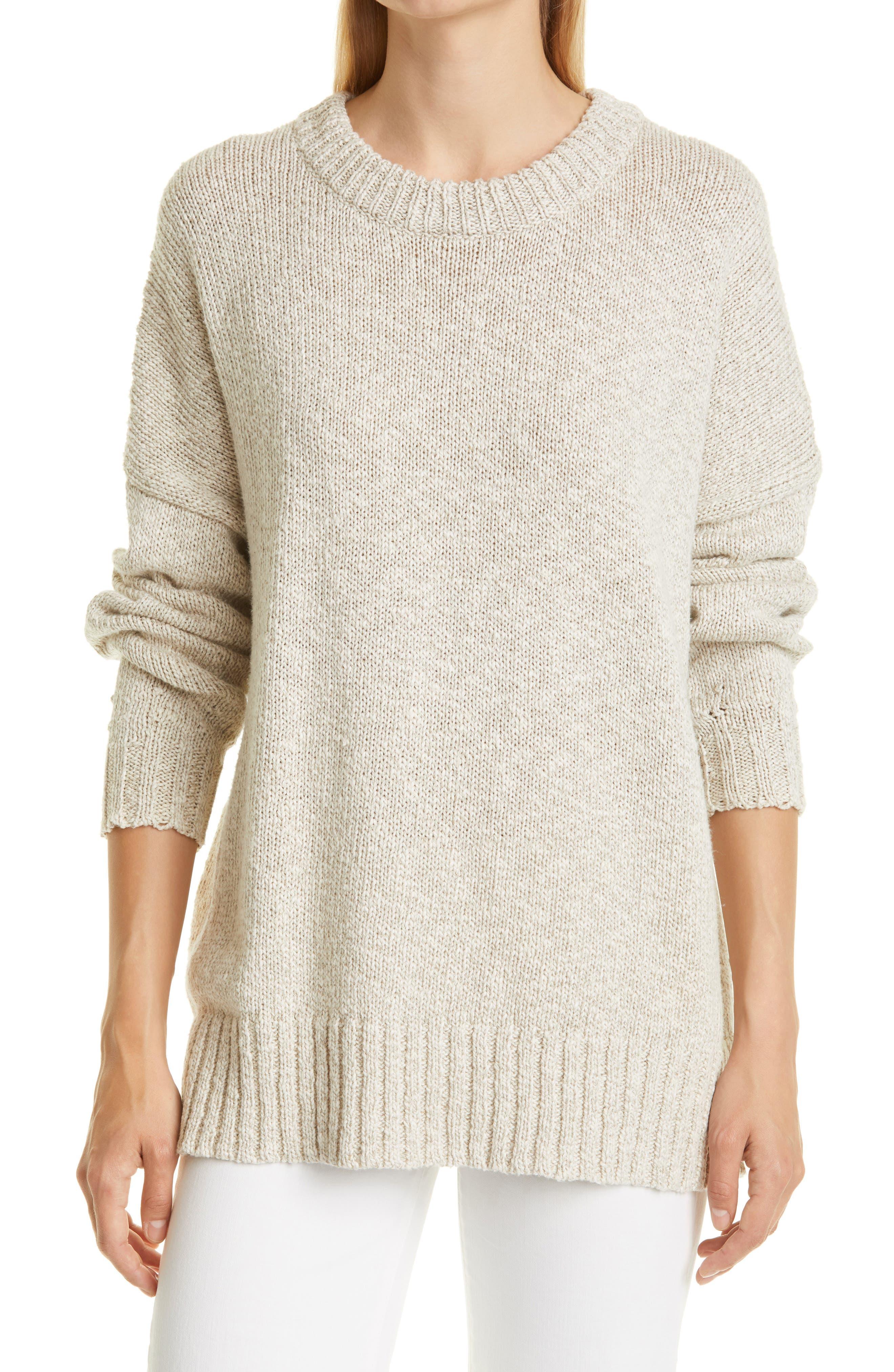 Cotton & Linen Crewneck Sweater