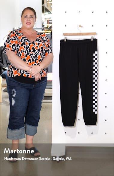 Checkered Stripe Crop Sweatpants, sales video thumbnail