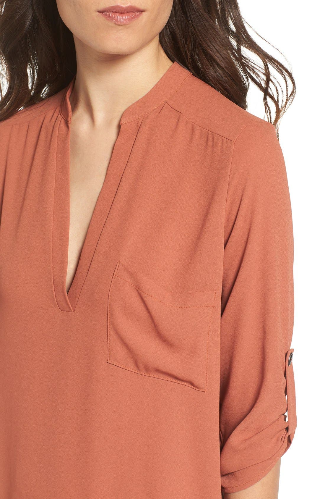 ,                             Perfect Roll Tab Sleeve Tunic,                             Alternate thumbnail 214, color,                             240