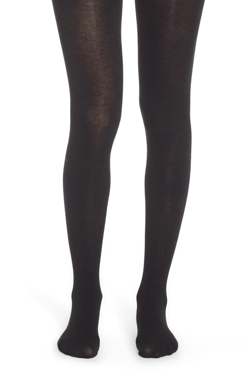 NORDSTROM Tights, Main, color, BLACK