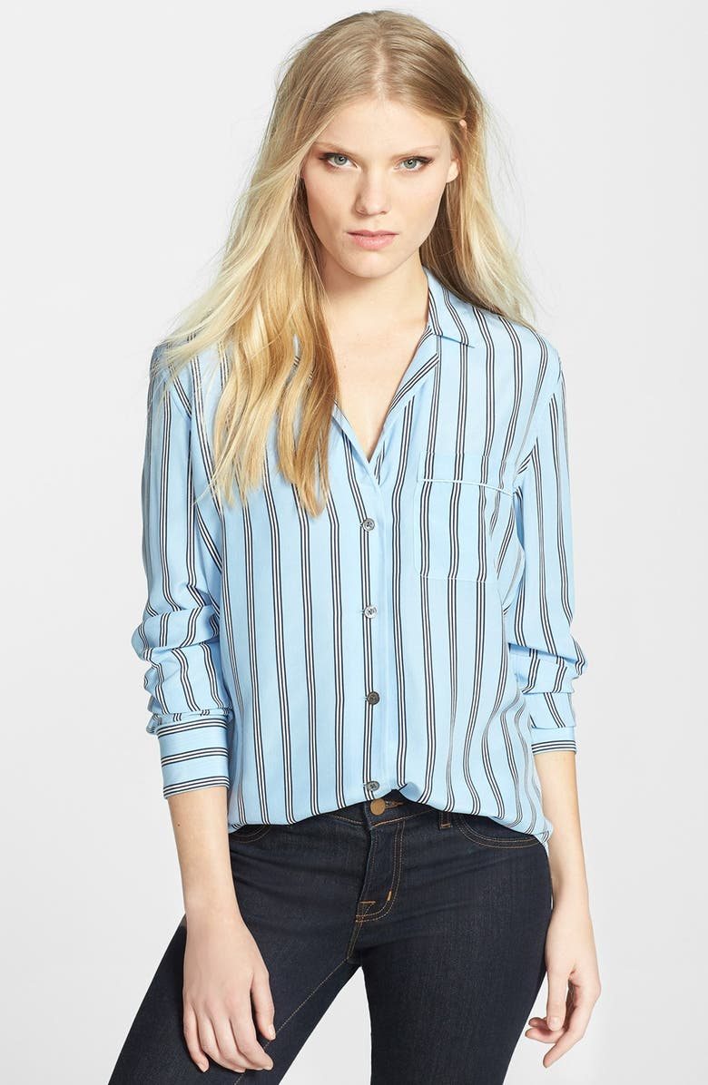 EQUIPMENT 'Keira' Stripe Silk Blouse, Main, color, 400
