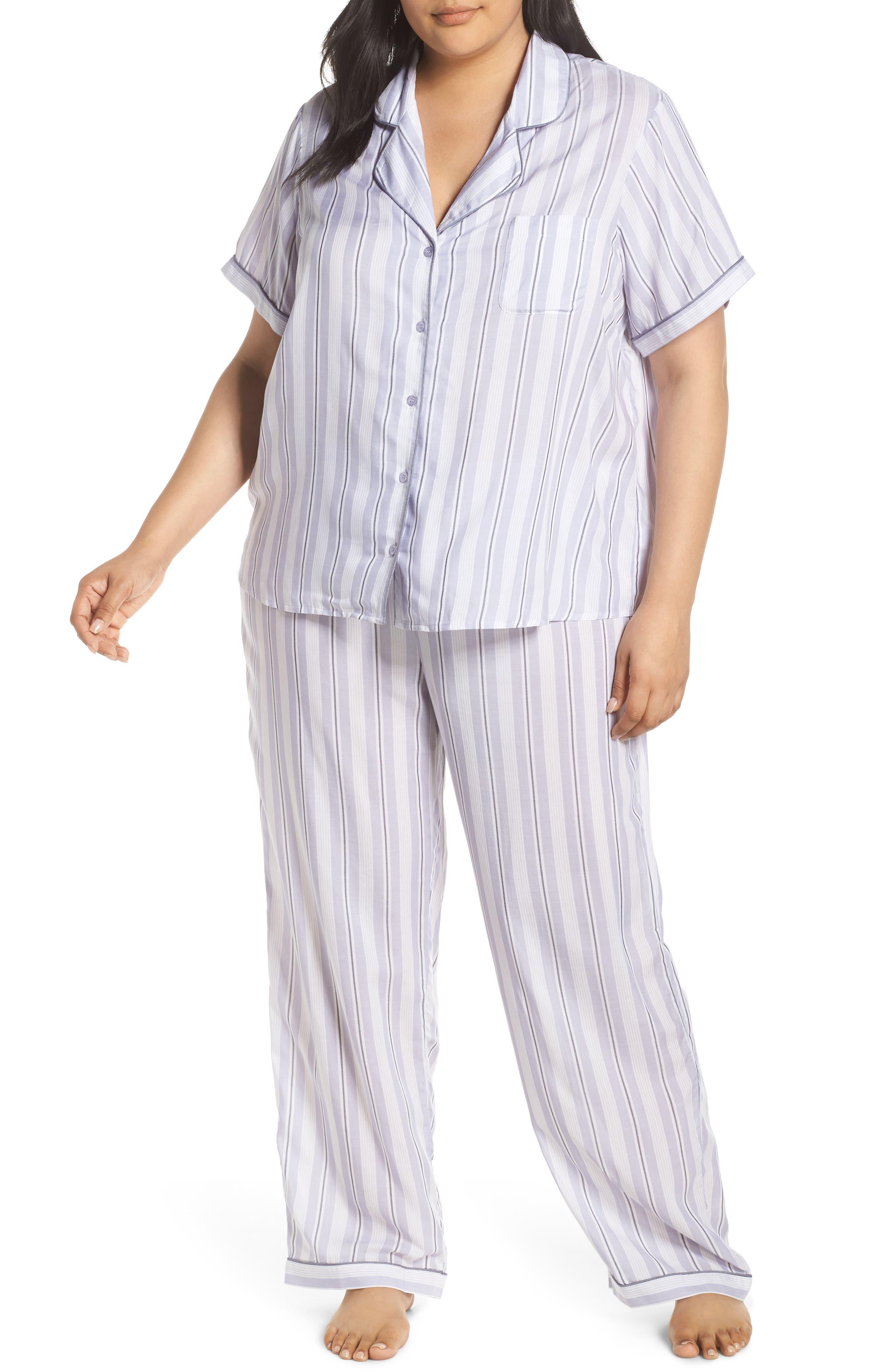 Plus Size Nordstrom Lingerie Sweet Dreams Pajamas, Purple