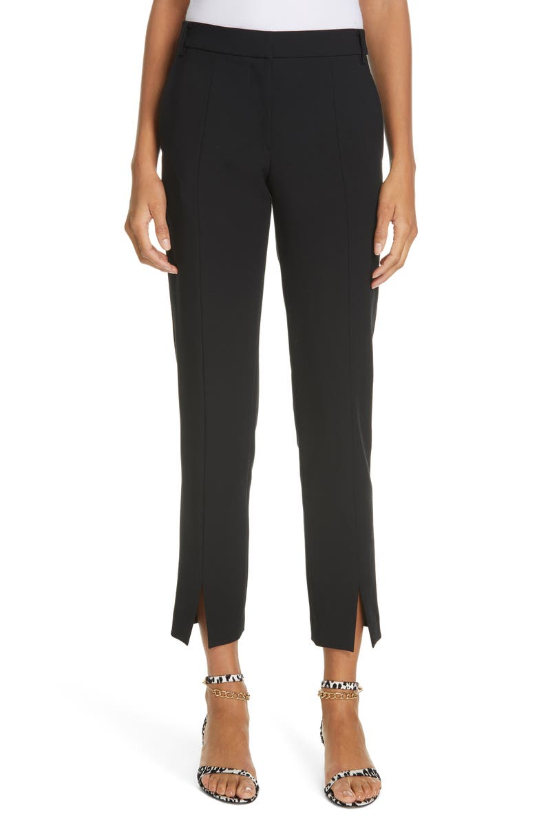 TIBI Anson Beatle Stretch Ankle Pants, Main, color, BLACK