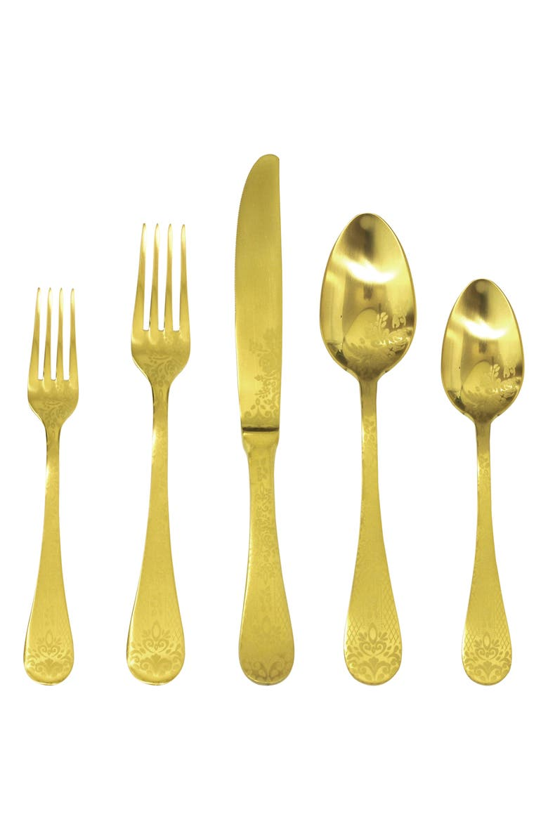 MEPRA Casablanca 5-Piece Place Setting, Main, color, STAINLESS GOLD