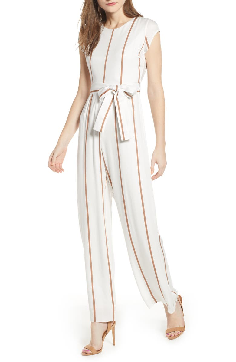 4SI3NNA Stripe Jumpsuit, Main, color, 900