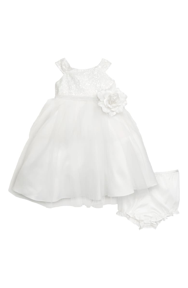 US ANGELS Sequin Tulle Dress, Main, color, IVORY