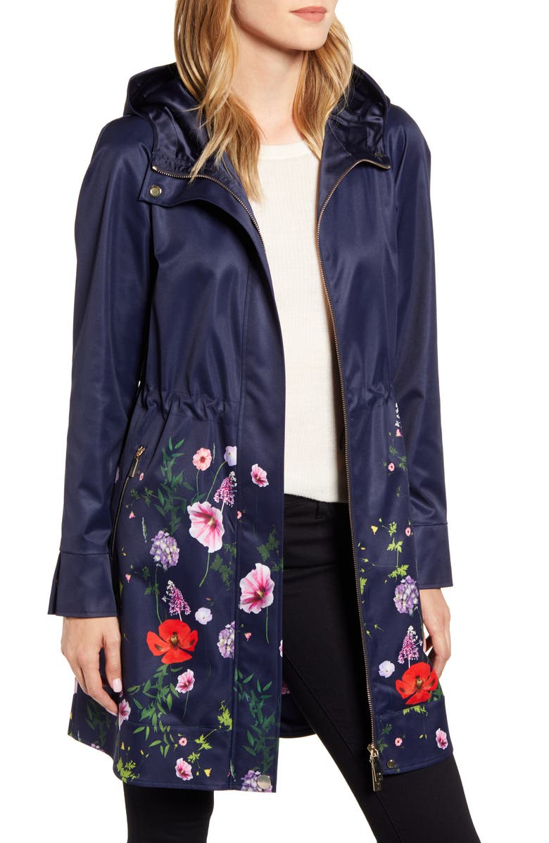 Floral Utility Jacket, Main, color, DK-BLUE
