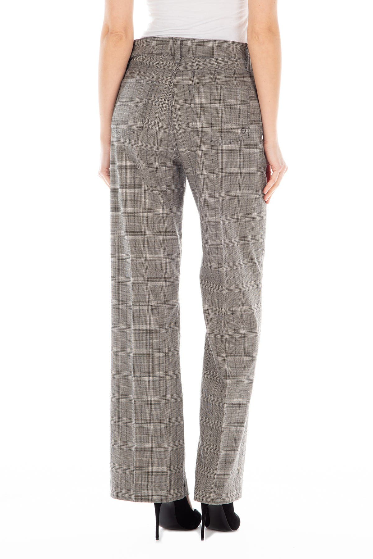 Image of FIDELITY DENIM Sunday High Rise Wide Leg Plaid Pants