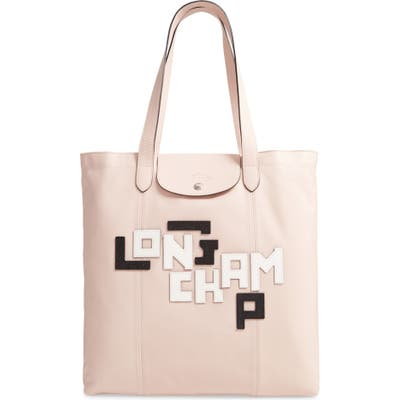 Longchamp Le Pliage Cuir Leather Tote - Pink