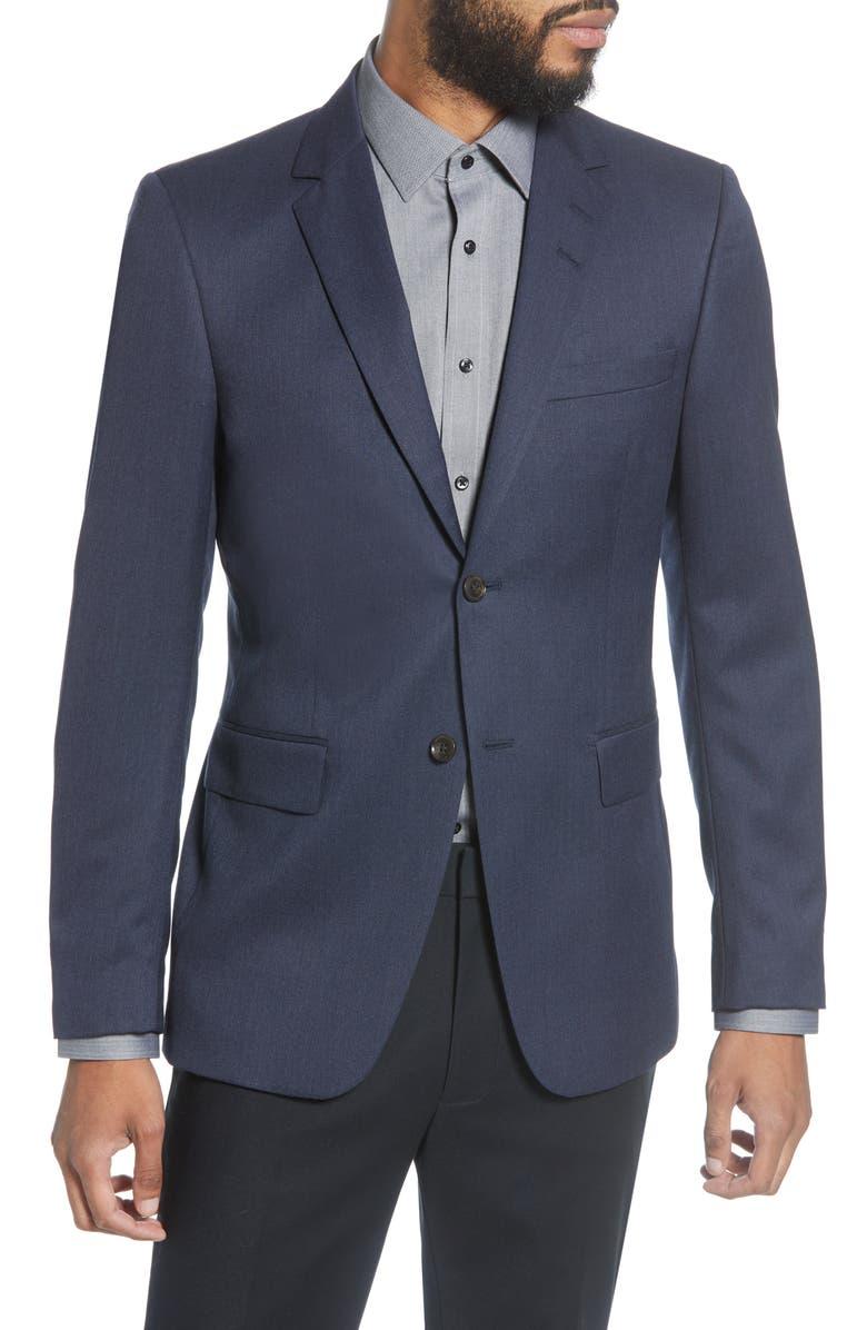 TIGER OF SWEDEN Trim Fit Solid Wool Blazer, Main, color, SOFT BLUE