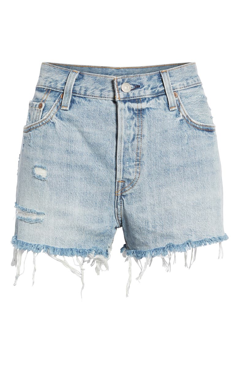 LEVI'S<SUP>®</SUP> '501<sup>®</sup>' Cutoff Denim Shorts, Main, color, WAVELINE