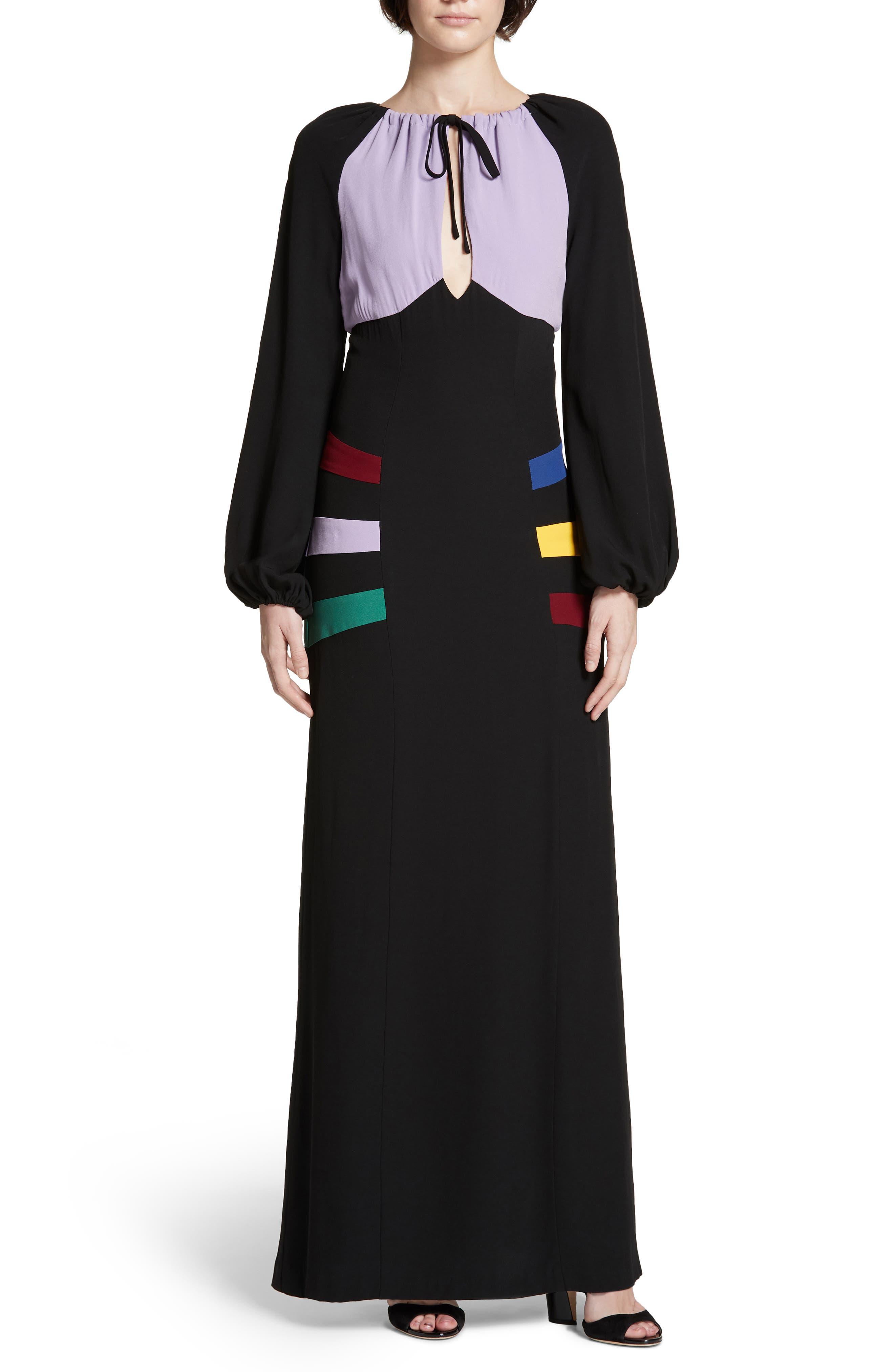 70s Prom, Formal, Evening, Party Dresses Womens Staud Pacha Maxi Dress Size 6 - Black $137.98 AT vintagedancer.com