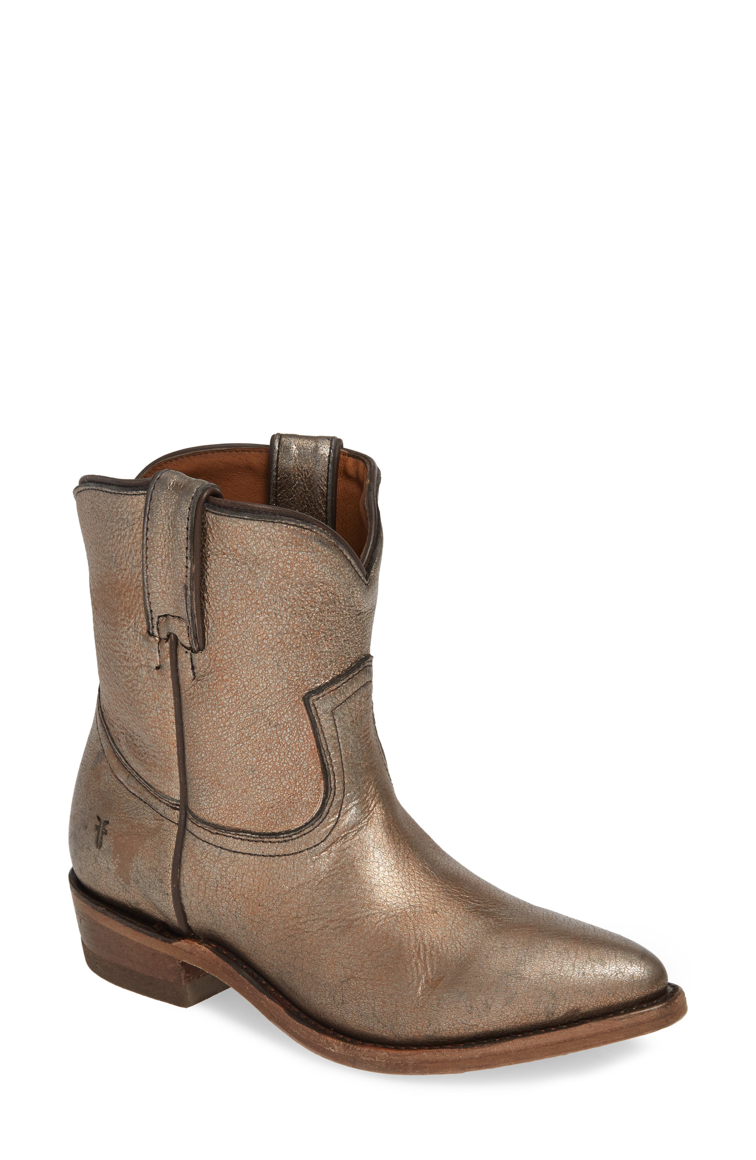 Frye Billy Bootie- Metallic