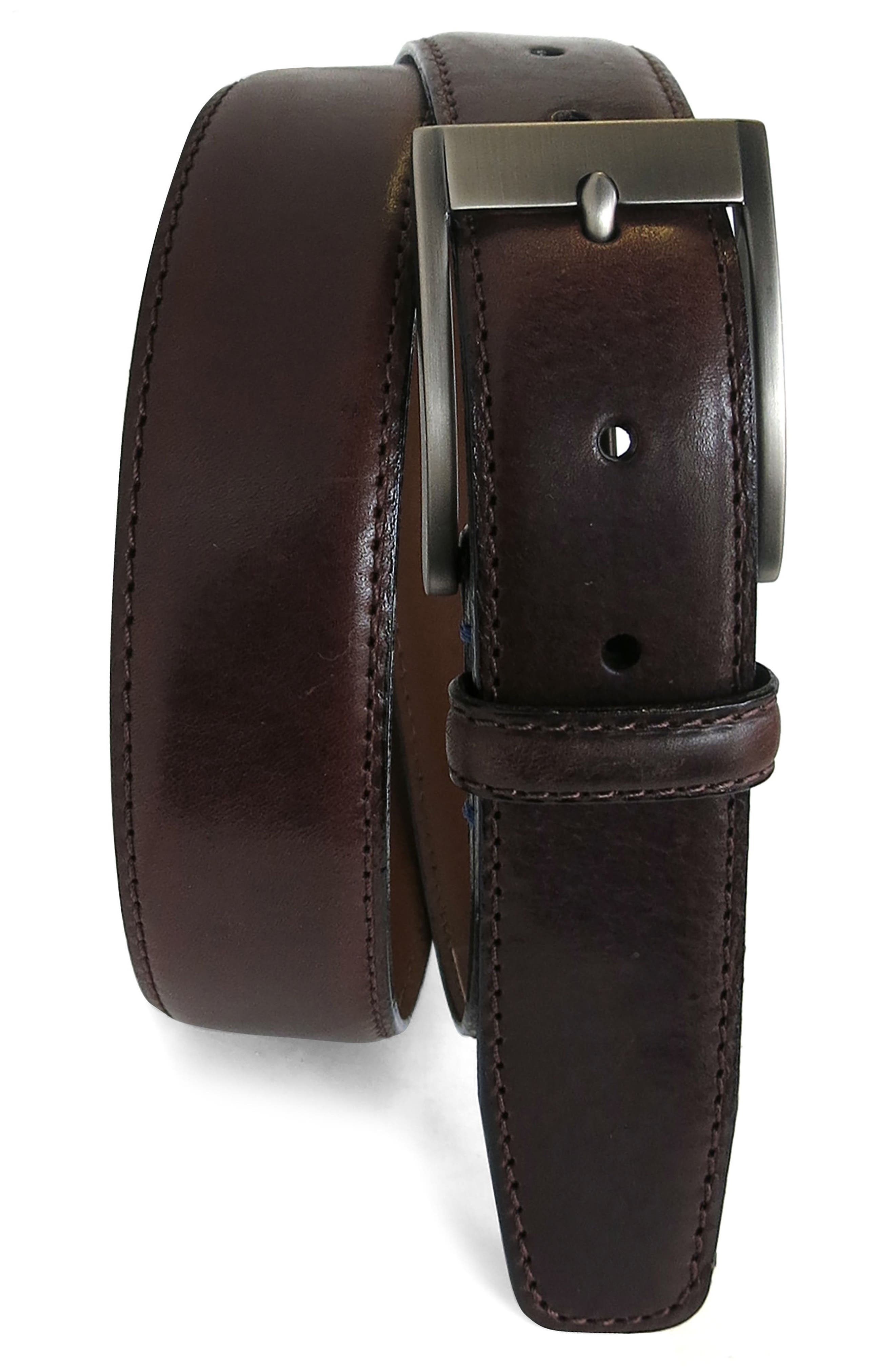 Boconi Collins Leather Belt, Brown