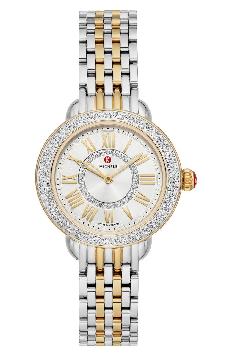 MICHELE Serein Mini Diamond Watch Head Bracelet 28mm