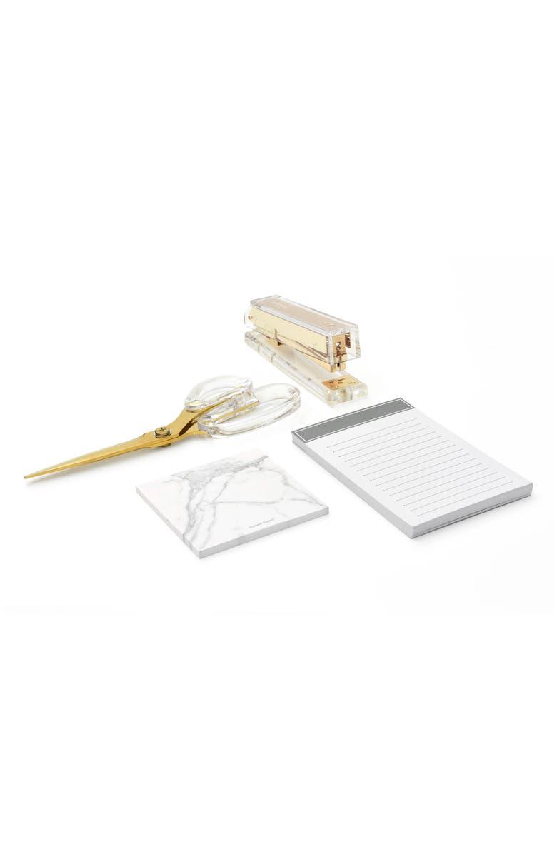 RUSSELL + HAZEL Desk Accessory Set, Main, color, GOLD