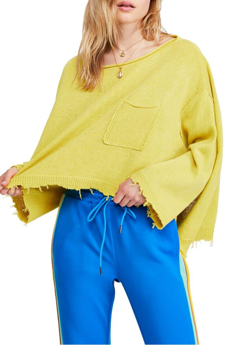 FREE PEOPLE Prism Distressed Hem Sweater, Main, color, 739
