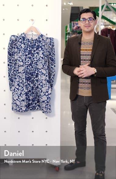 Wren Floral Long SLeeve Denim Dress, sales video thumbnail