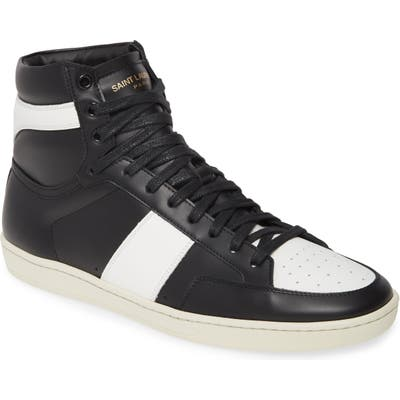 Saint Laurent Sl/10H Signature Court Classic High Top Sneaker, White