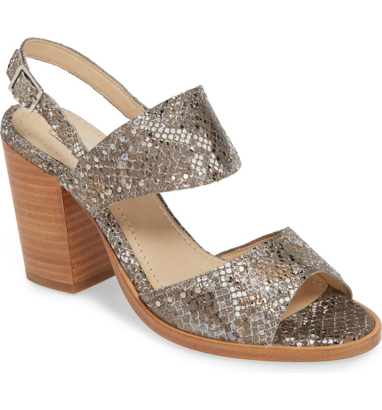 TWO24 by Ariat Stardust Block Heel Sandal, Main, color, METALLIC SNAKE PRINT LEATHER