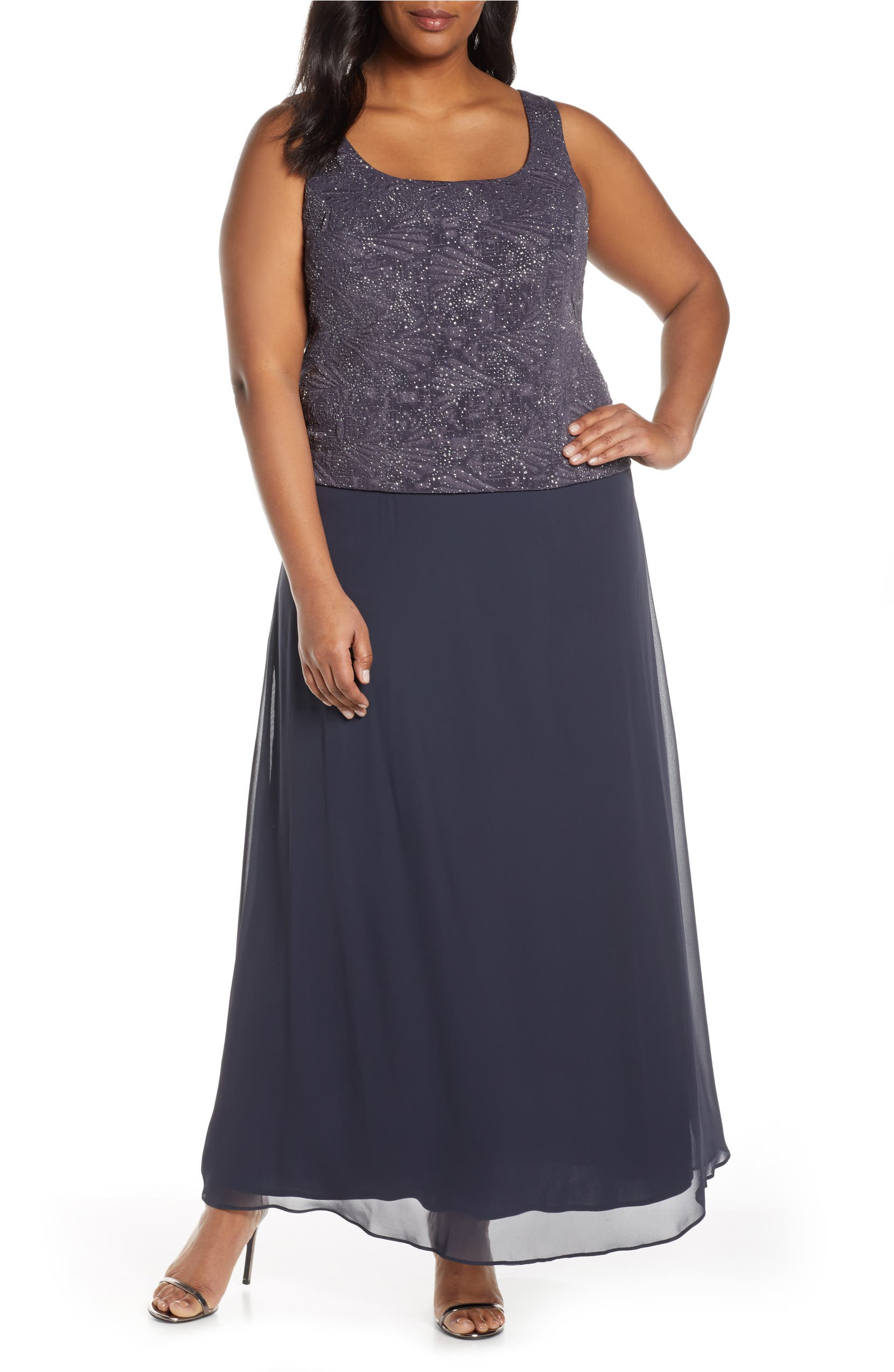Lace & Chiffon Gown with Jacket