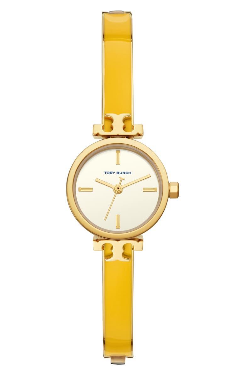 토리버치 Tory Burch The Slim Bangle Watch, 22mm,yellow