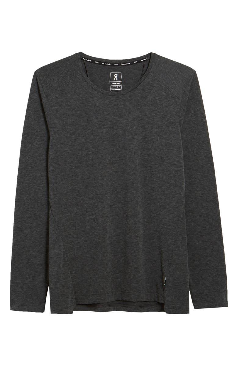 ON Comfort Long Sleeve T-Shirt, Main, color, BLACK