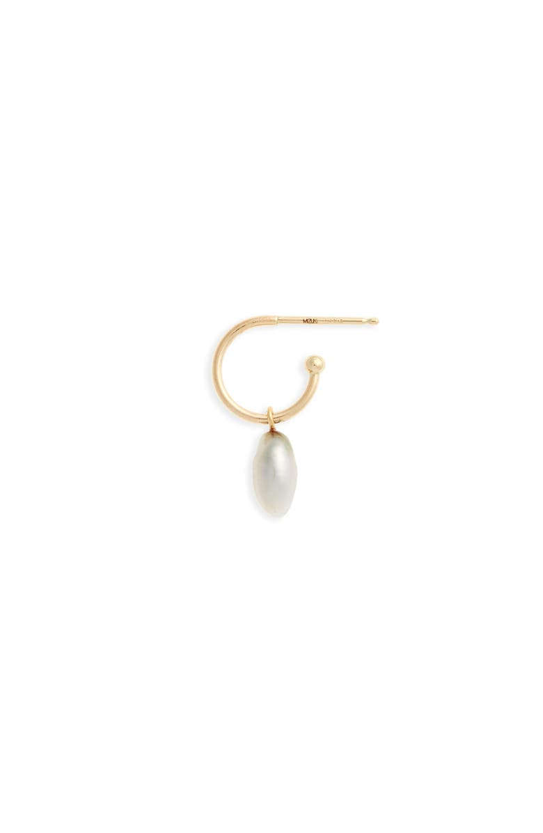 MIZUKI Sea of Beauty Pearl Single Hoop Earring, Main, color, 710