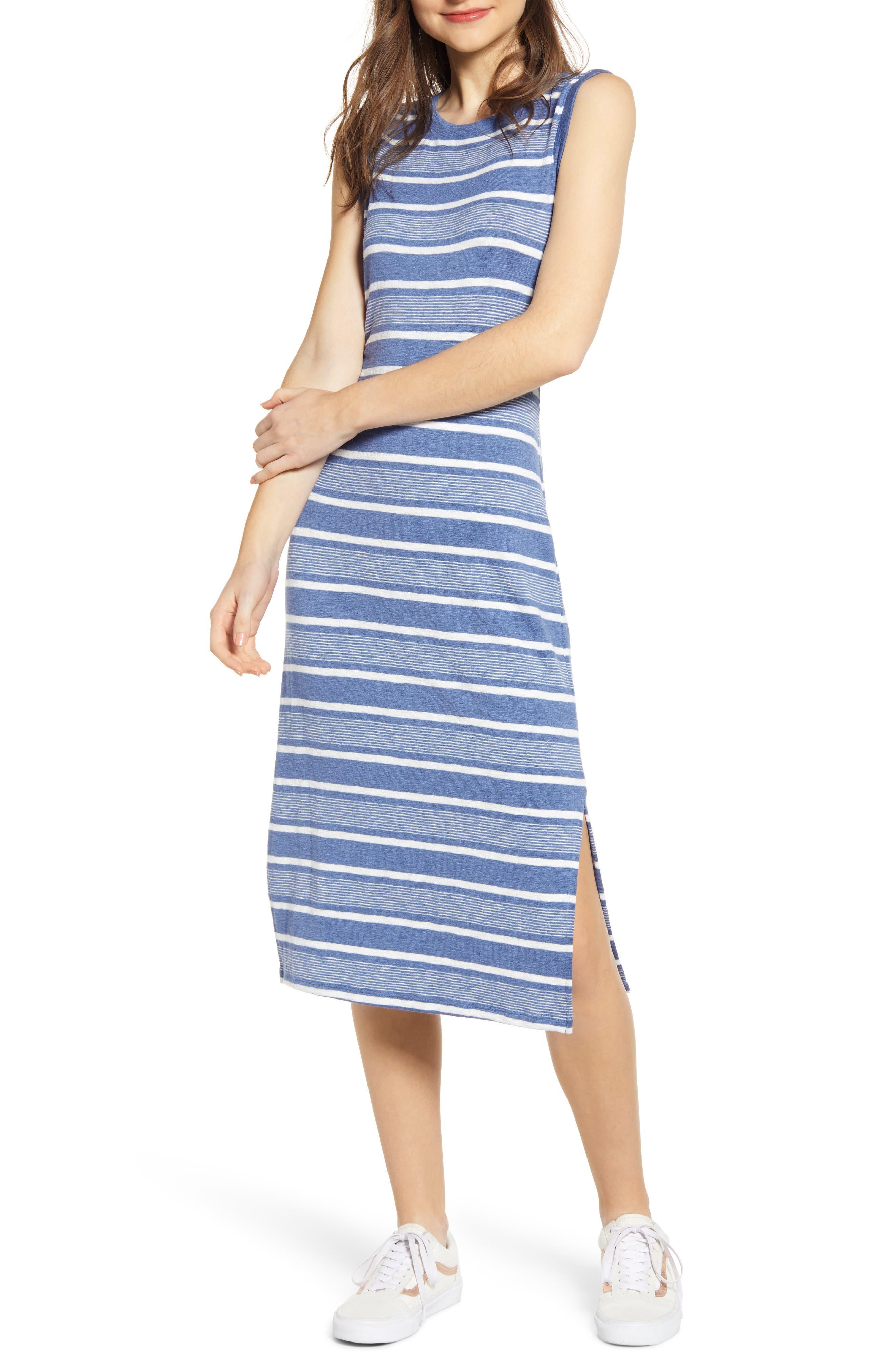 Plus Size Bp. Stripe Tank Midi Dress, Blue