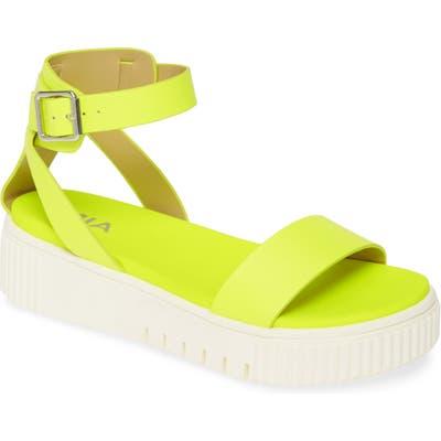 Mia Lunna Platform Ankle Strap Sandal- Yellow