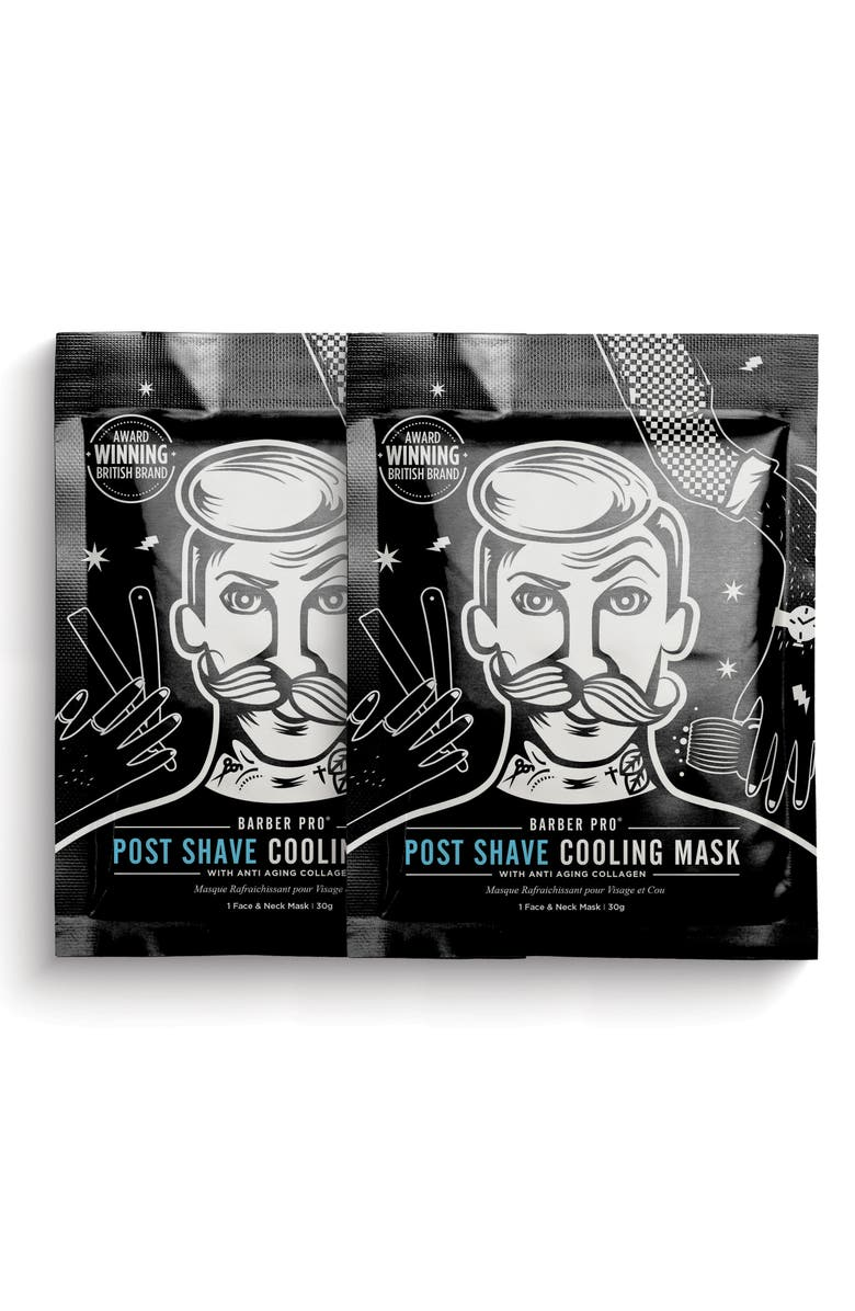 BARBER PRO Post Shave Cooling Mask Duo, Main, color, NO COLOR