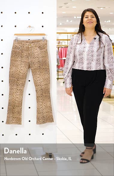 Le Crop High Waist Mini Boot Snake Print Jeans, sales video thumbnail