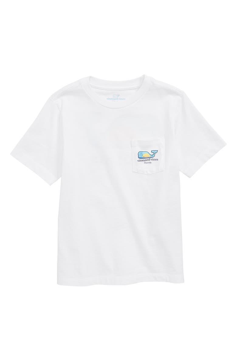 VINEYARD VINES Florida Whale Pocket T-Shirt, Main, color, WHITE CAP
