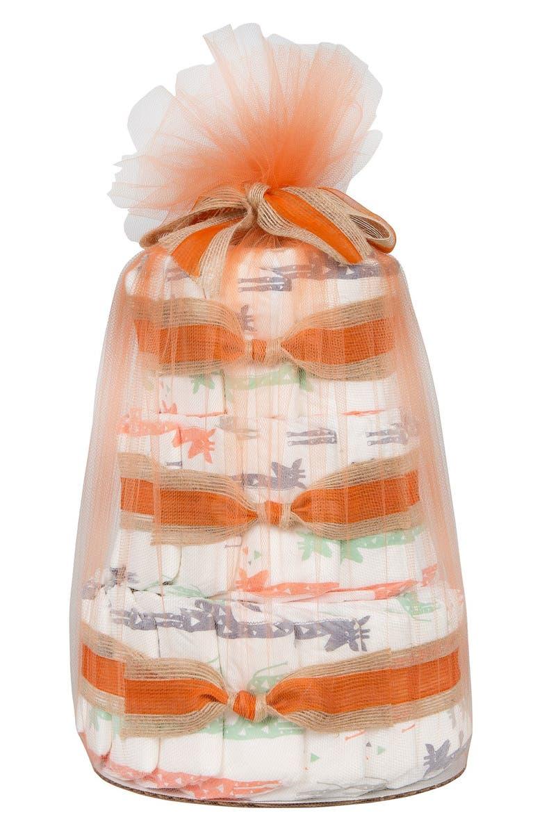 THE HONEST COMPANY Mini Diaper Cake & Travel-Size Essentials Set, Main, color, 800