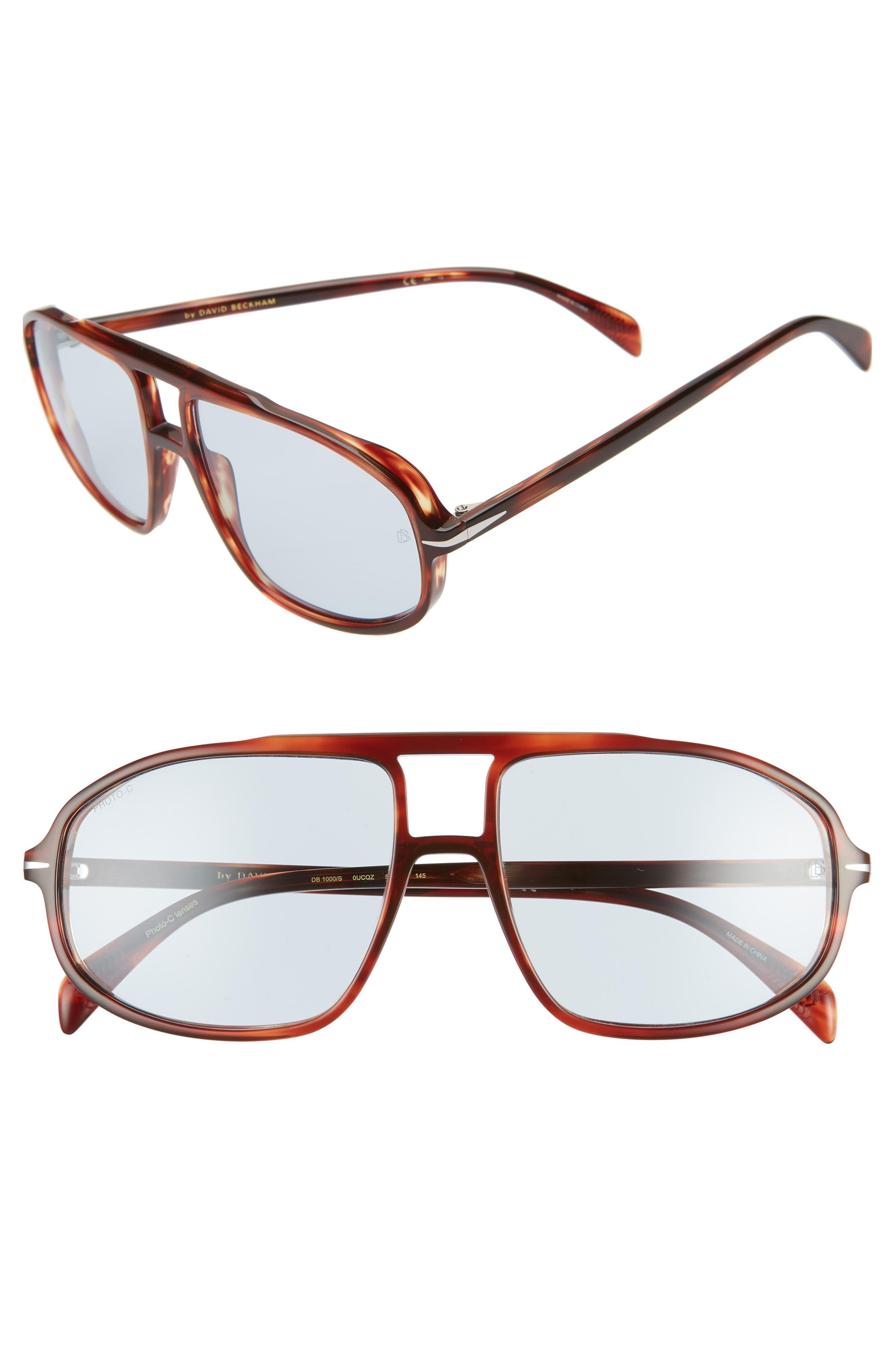 Men's Eyewear By David Beckham Db 1000/s 59mm Photochromic Pilot Sunglasses