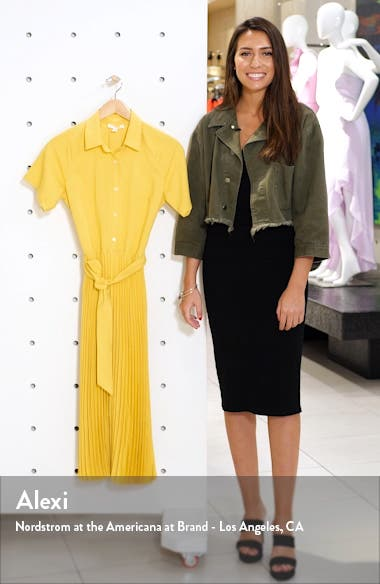Short Sleeve Pleated Shirtdress, sales video thumbnail