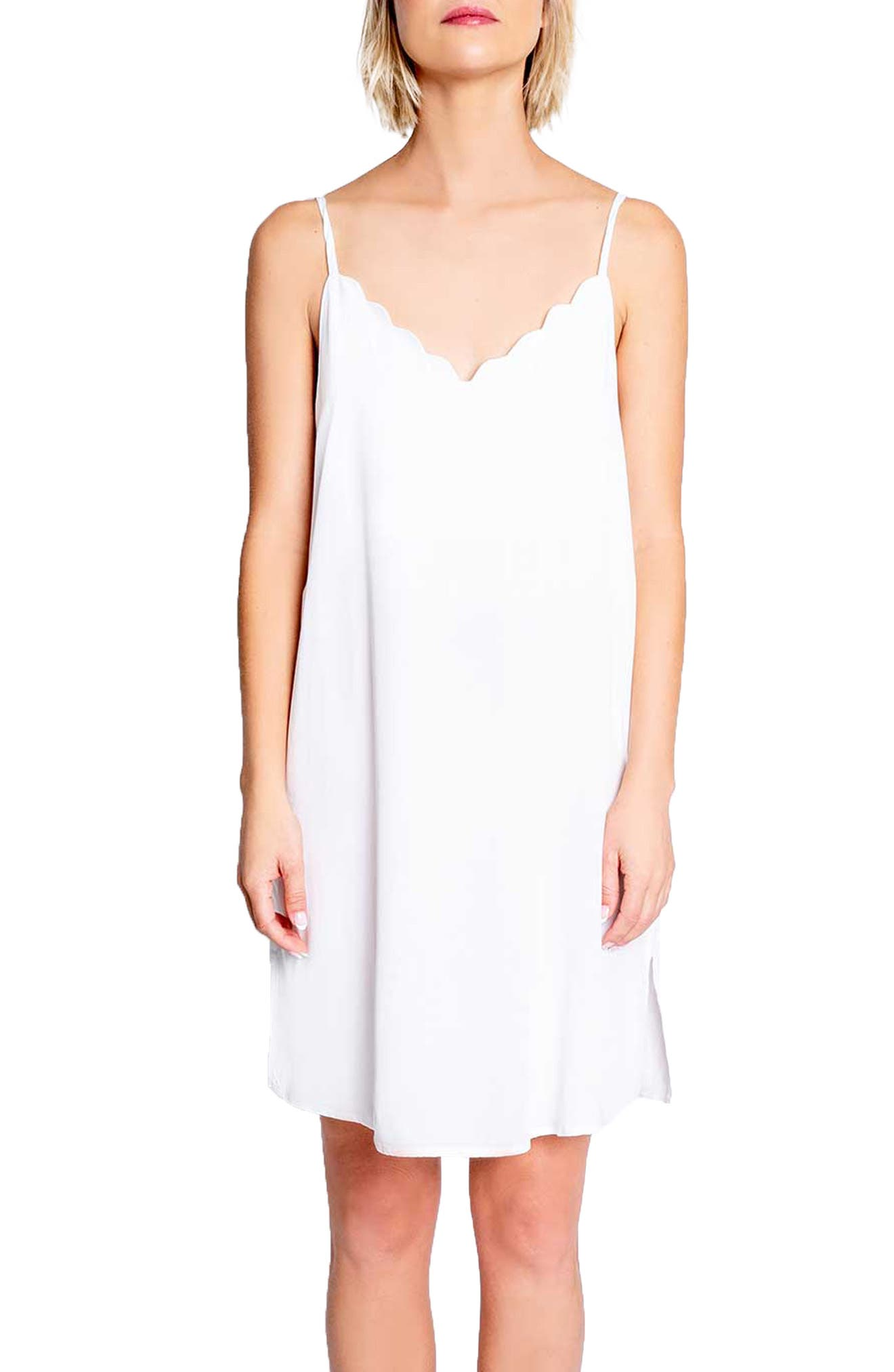 Image of PJ SALVAGE Scalloped V-Neck Sleep Dress