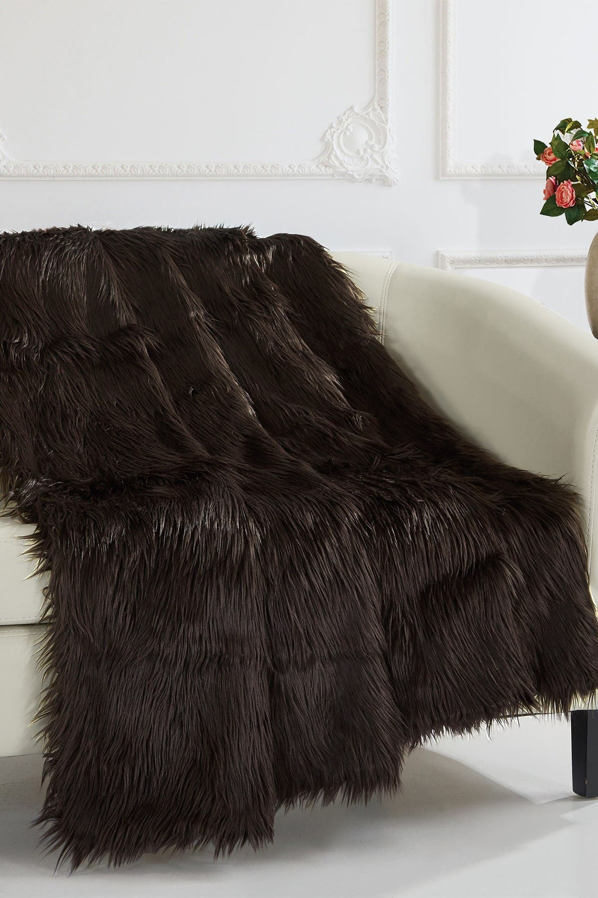 Chic Home Bedding Krista Shaggy Faux Fur Blanket - 50\\\