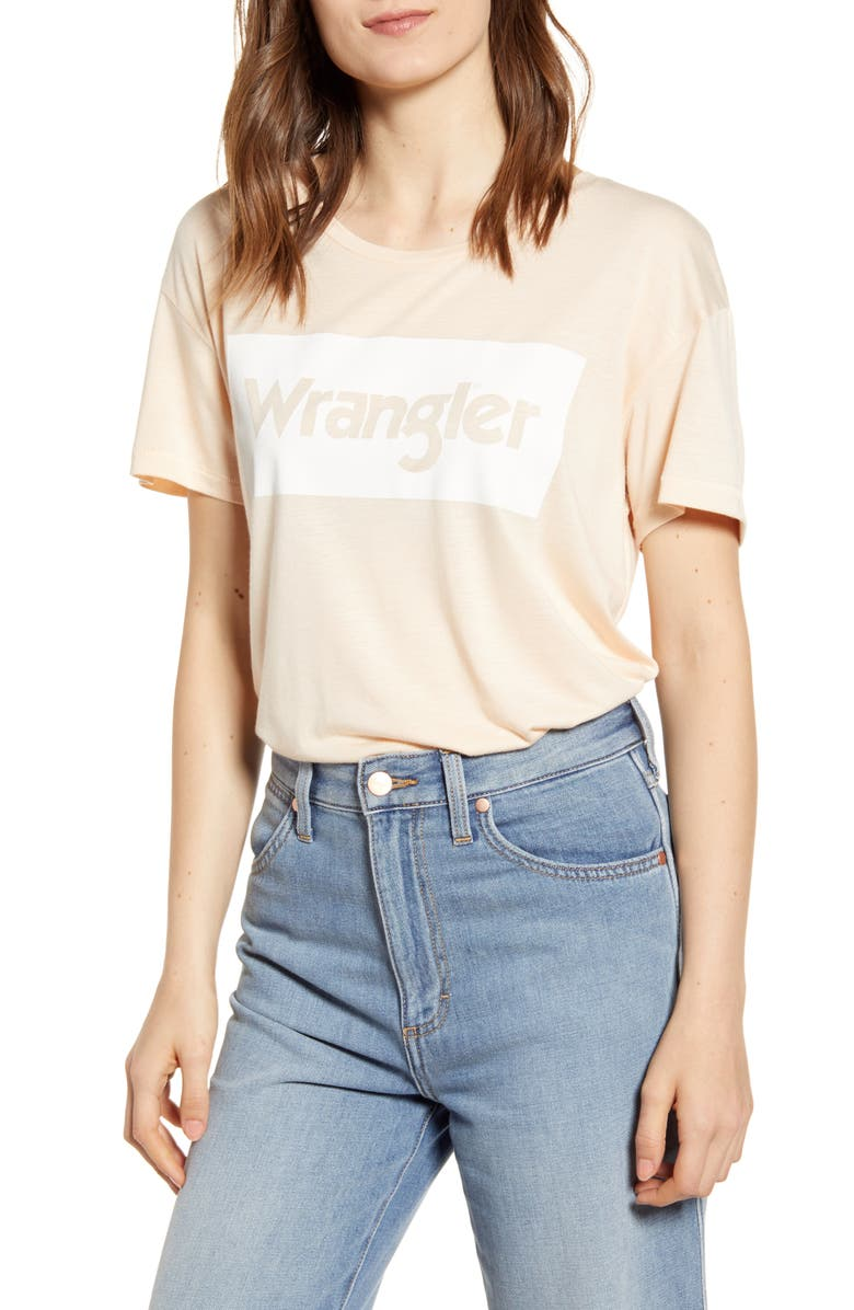 WRANGLER Logo Tee, Main, color, BURNT ORANGE