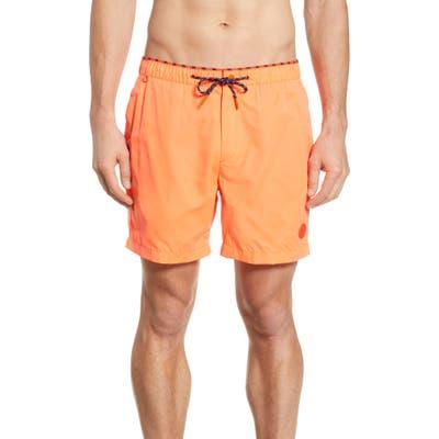 Scotch & Soda Classic Colorful Swim Trunks, Orange