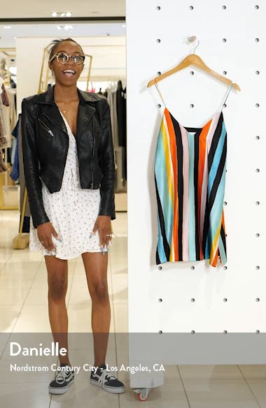Elena Stripe Stretch Silk Slipdress, sales video thumbnail