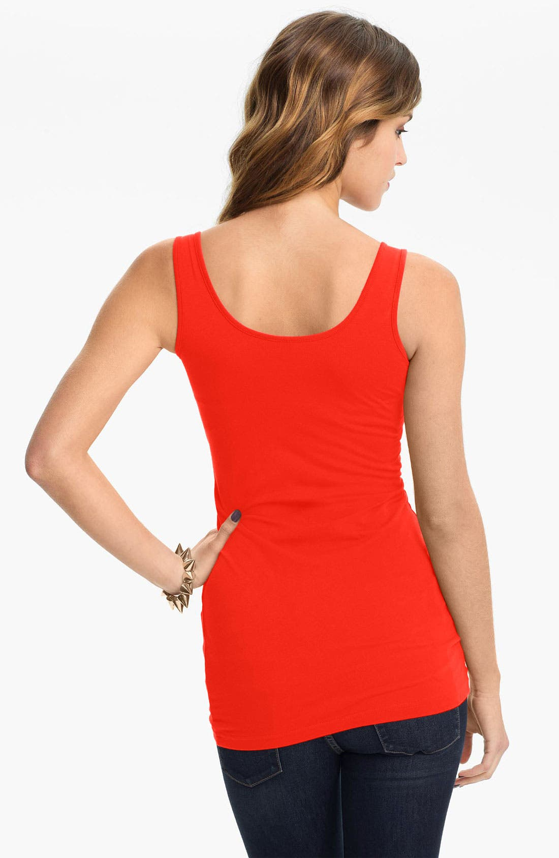 ,                             Double Scoop Neck Tank,                             Alternate thumbnail 335, color,                             822