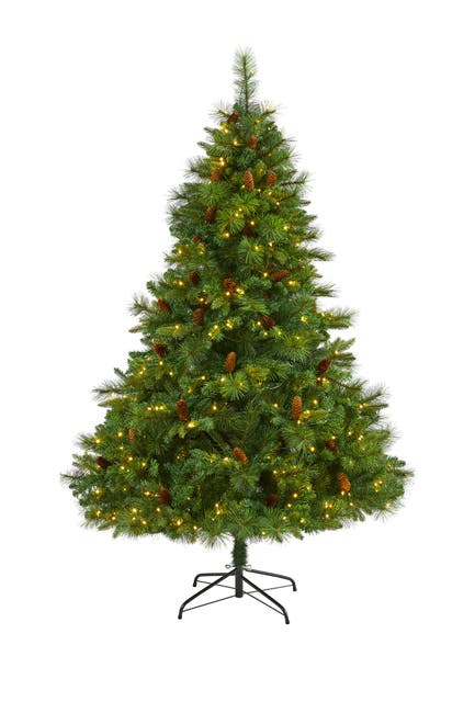Image of NEARLY NATURAL 6.5ft. West Virginia Full Bodied Mixed Pine Artificial Christmas Tree
