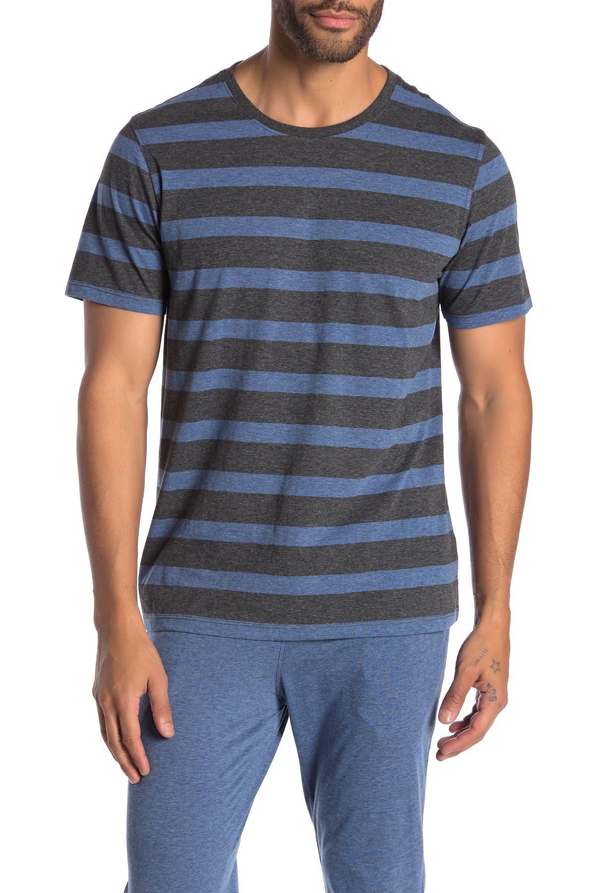Daniel Buchler Striped Crew Neck Lounge T-Shirt