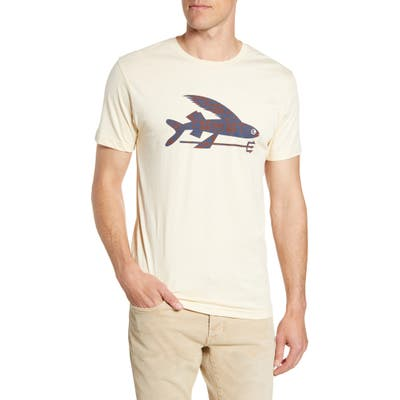 Patagonia Flying Fish Regular Fit Organic Cotton T-Shirt, White