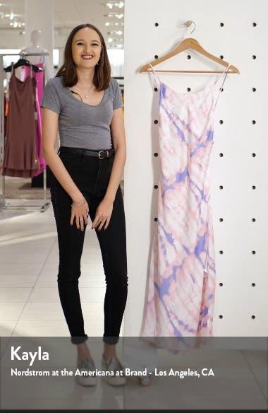 Bias Cut Sleeveless Satin Midi Dress, sales video thumbnail