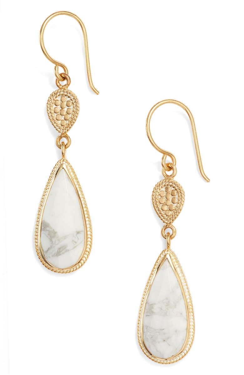 Anna Beck Howlite Double Drop Earrings