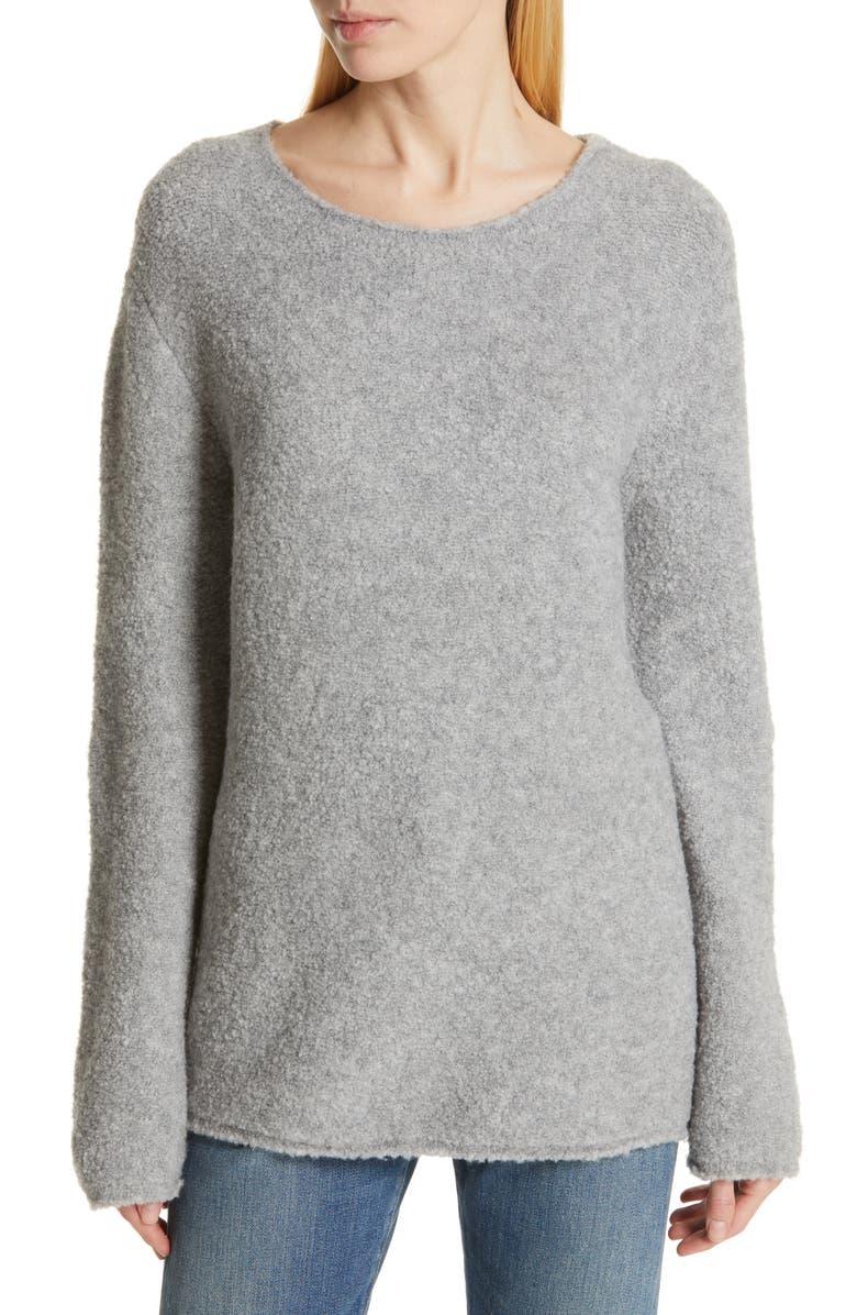 JENNI KAYNE Bouclé Sweater, Main, color, GREY