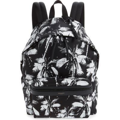 Saint Laurent Palm Tree City Backpack - Black