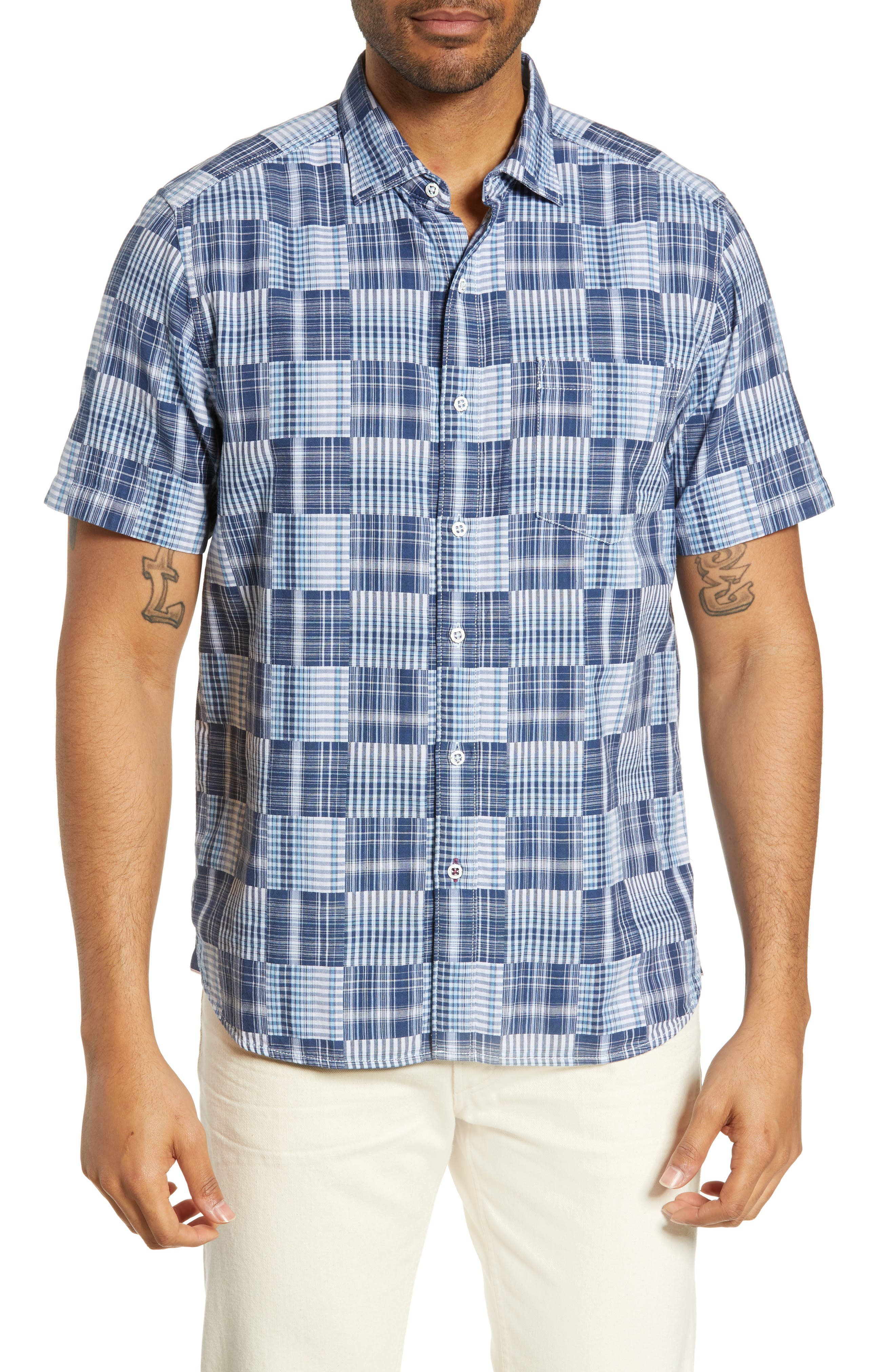 Tommy Bahama Patchwork In Paradise Classic Fit Sport Shirt, Blue